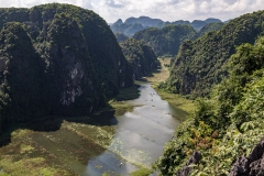 View from Hang Mua viewpoint over the karst landscape at Tam Coc
