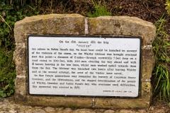 Commemoration plaque, Robin Hood's Bay