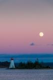 Moonrise, Baddeck Harbour