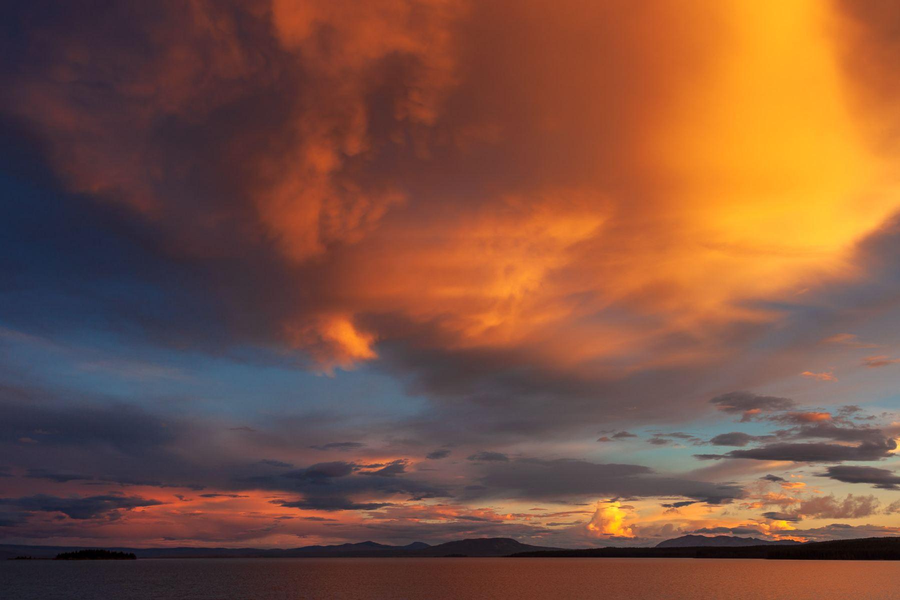 Lake Yellowstone Sunset