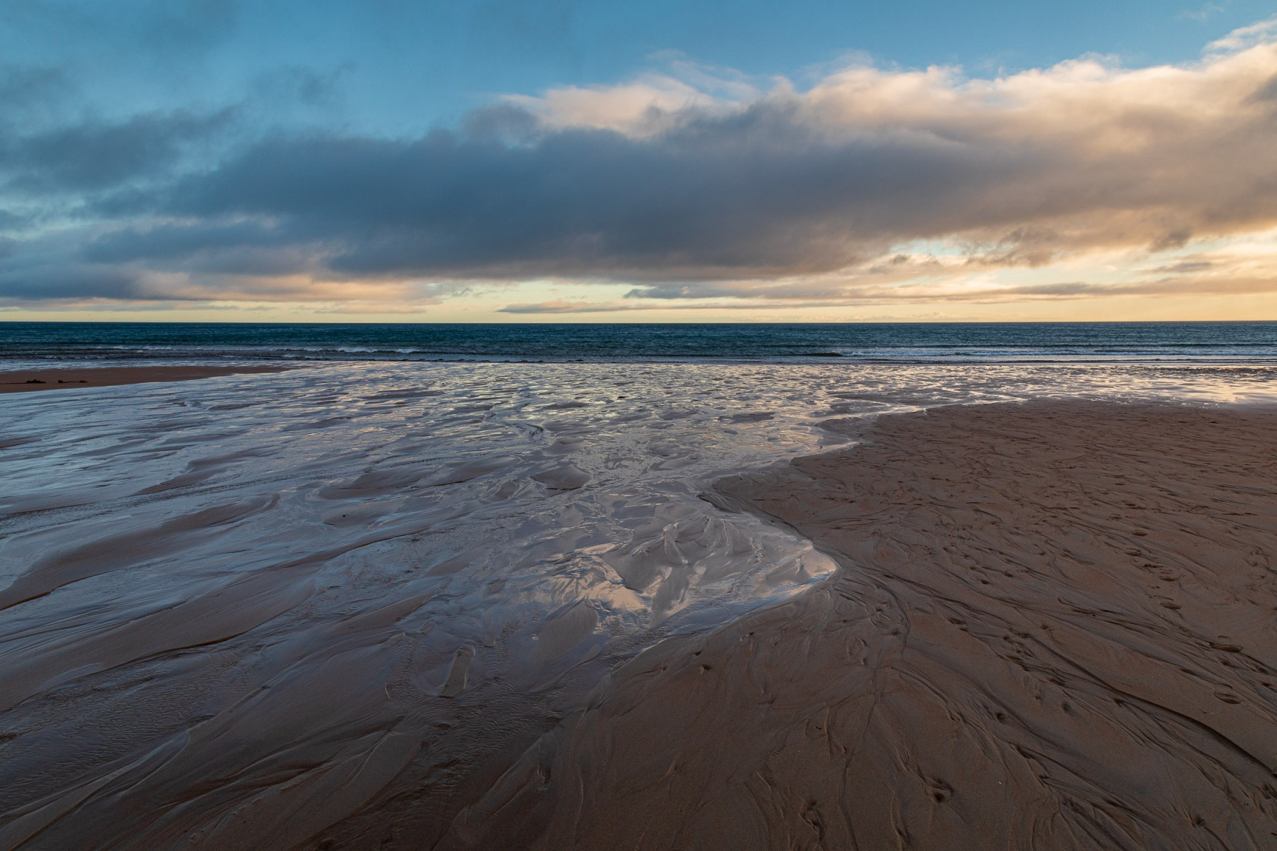 Winter light, Brora Beach