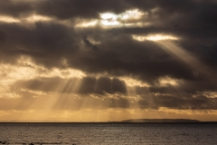 Crepuscular rays over the North Sea
