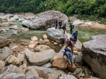 Crossing the Muong Hoa River