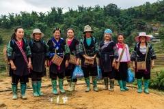 Hmong villagers, Muong Hoa Valley