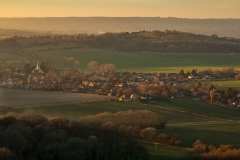 View over South Harting from the South Downs