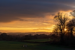 Winter sunset over the Cowdray Estate