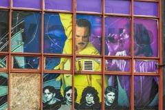 Rock music mural
