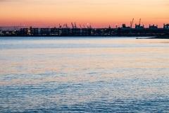 Southampton Eastern Docks at dusk
