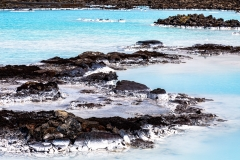 Close up of a Blue Lagoon thermal pool
