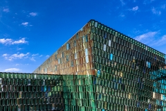 Detail of the exterior of the Harpa opera house, Reykjavik