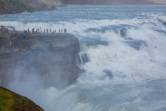 Viewing the upper falls at Gullfoss