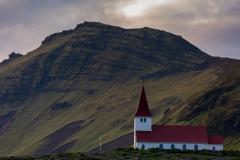 Vik i Myrdal church and Reynisfjall
