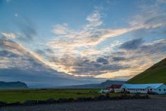 Evening sky over a southern Iceland farm