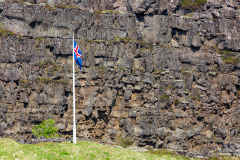 Rift wall and Iceland flag