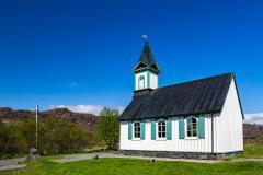 Exterior of Þingvellir Church