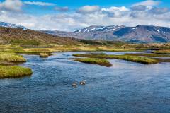Öxará River and the landscape of Þingvellir