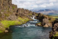 Öxará River cascades