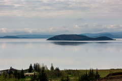 Þingvallavatn on a grey morning