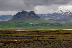 View from Dyrhólaey across the south Iceland landscape