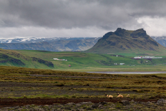 Wild landscape of south Iceland