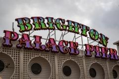 Palace Pier sign, Brighton