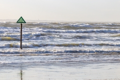 Incoming waves on West Wittering beach