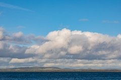 Cumulus clouds over Chichester Harbour