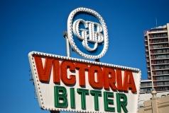 Victoria Bitter sign