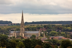 Salisbury and the cathedral from Old Sarum