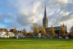 Salisbury Cathedral on a sunny Winter afternoon