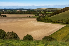 View over the Wiltshire countryside from Win Green
