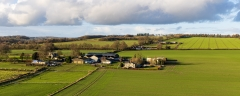 Farms and fields in the Wiltshire countryside