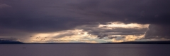 Sunburst over Yellowstone Lake