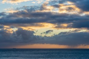 Pale sunset off the Purbeck Coast