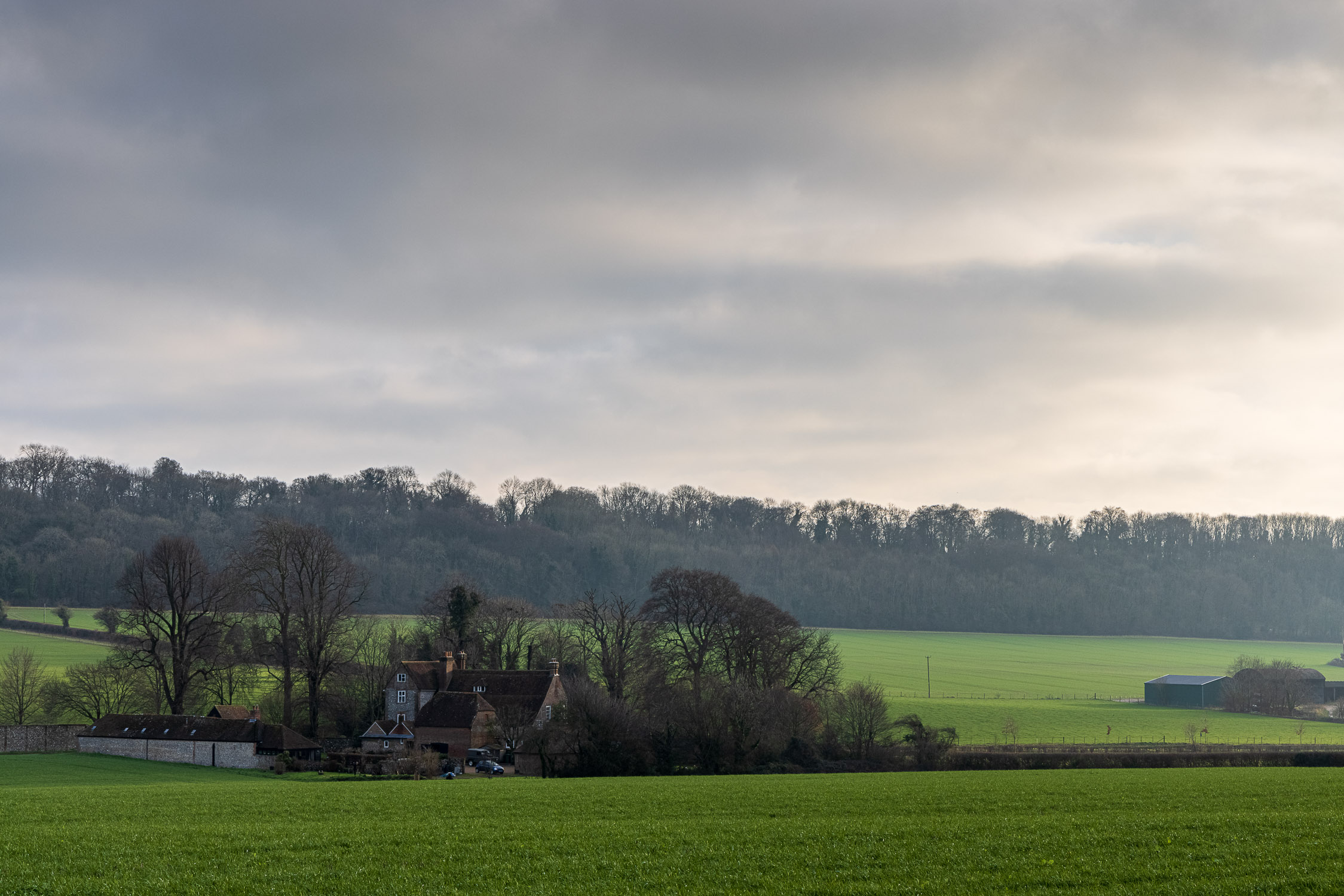 Winter light over a Hampshire Farm