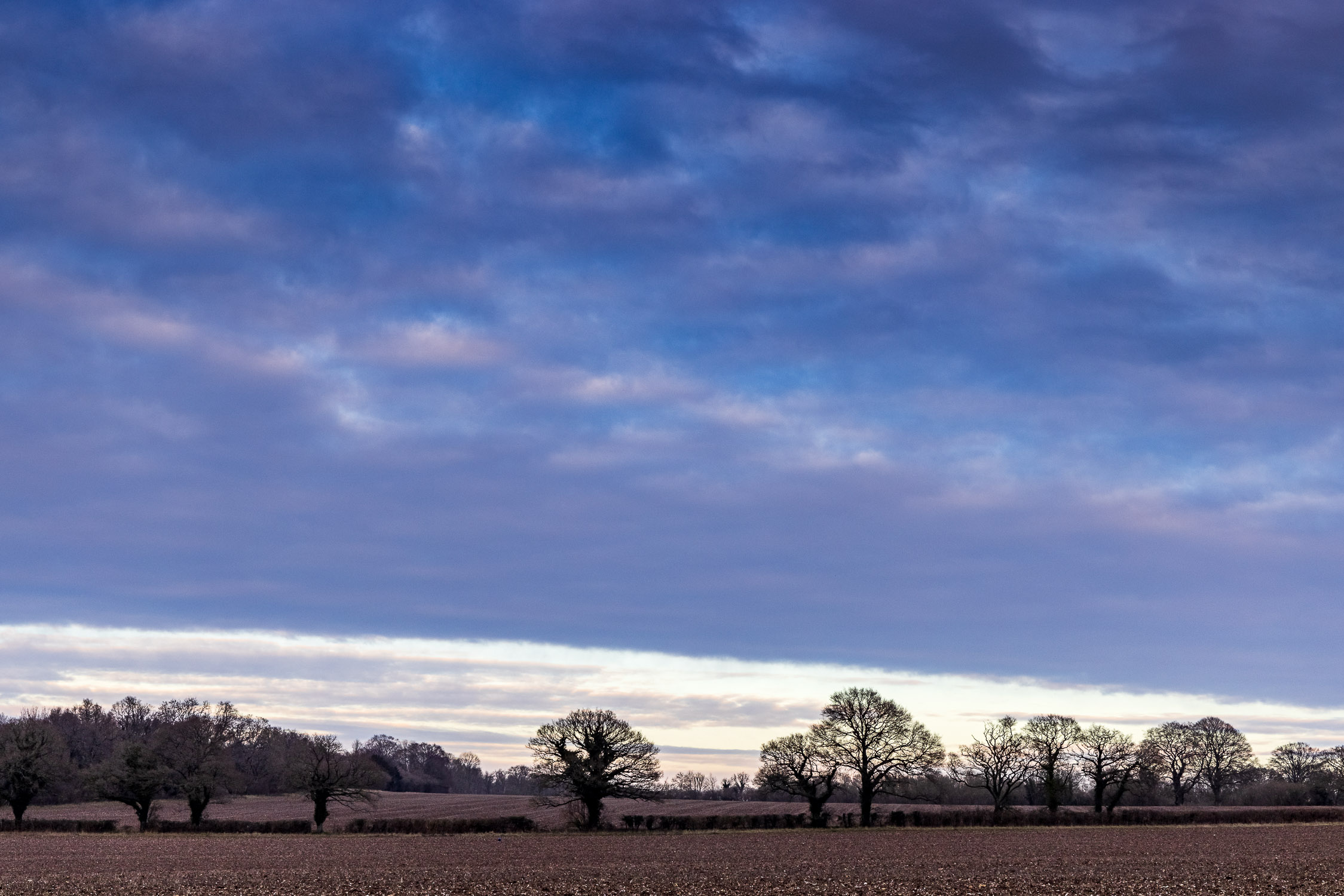 Winter sky over Hampshire