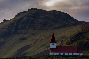 Reynisfjall and the church, Vik