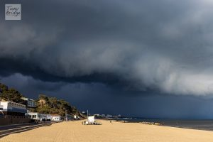 Incoming snowstorm, Bournemouth Beach