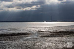 Cloud break over the Solent