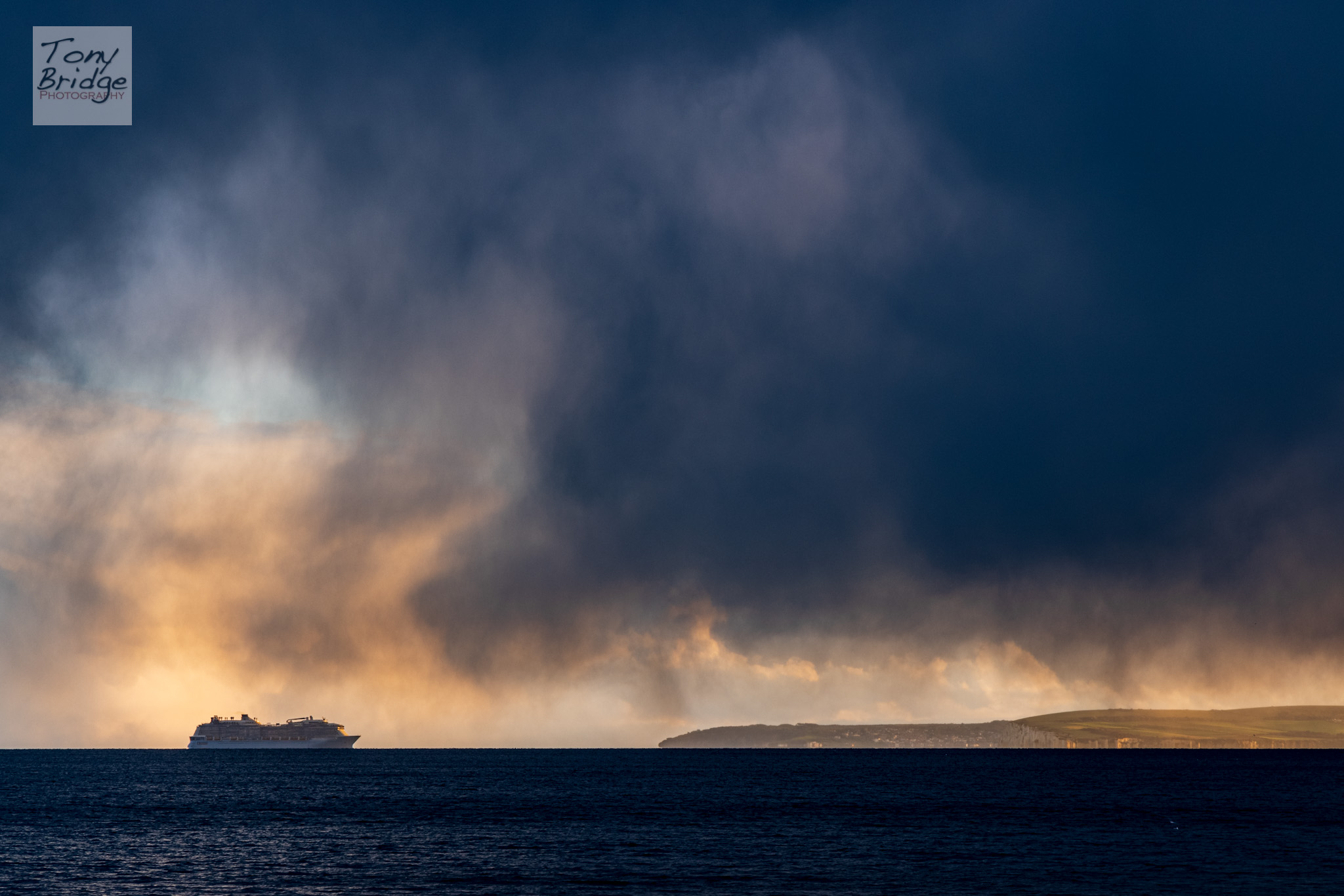 Evening squall over Poole Bay